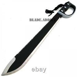 24 JUNGLE MACHETE HUNTING KNIFE MILITARY TACTICAL SURVIVAL SWORD NINJA Zombie