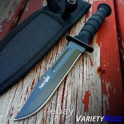 7.5 MILITARY TACTICAL COMBAT KNIFE with SHEATH Survival HUNTING Bowie Fixed Blade