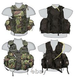 British Army Military US Special Forces Tactical Combat Assault Vest Black DPM