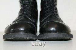 Carolina Mens 10 Jump Boots Sz 10 Cap Toe Tactical Military Black Leather USA