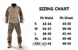 Combat Gen3 Tactical Uniform Men Military Shirt and Pants with Knee Elbow Pads