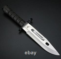 Combat Tactical Army Fighting Straight Bayonet Knife Stabbing Military Fighter