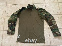 Crye Precision Drifire M81 Woodland Combat Shirt LARGE/REG Tactical Military