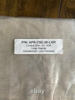 Crye Precision G3 AOR1 Combat Shirt LARGE/REGULAR Tactical Military AOR2