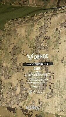 Crye Precision G3 DriFire AOR2 Combat Pants 36R Tactical Military