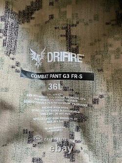 Crye Precision G3 DriFire AOR2 Combat Pants 36 Long Tactical Military