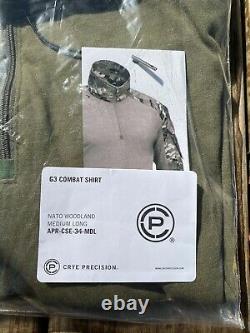Crye Precision G3 M81 Woodland Combat Shirt MEDIUM/LONG Tactical Military
