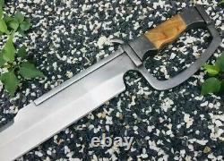 Custom handmade d2 tool steel warrior military combat Tactical Short Bowie Sword
