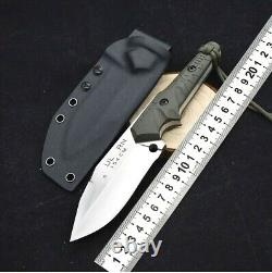 Drop Point Knife Fixed Blade Hunting Survival Wild Tactical Military G10 Handle