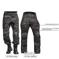 Emerson G3 Combat Shirt & Pants Knee Pads Set Tactical Military GEN3 BDU Uniform