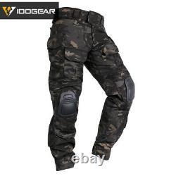 IDOGEAR G3 Combat Pants Tactical Trousers BDU Military Airsoft MultiCam Black