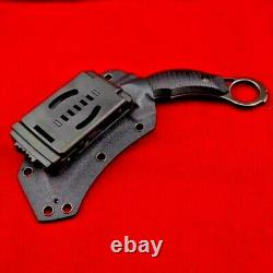 Karambit Claw Knife Fixed Blade Hunting Wild Military Combat Tactical G10 Handle