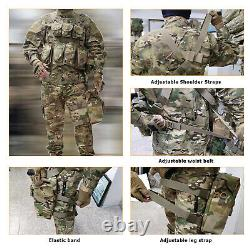 MT Military Tactical Assault Vest Army Combat Chest with MOLLE Pouches OCP