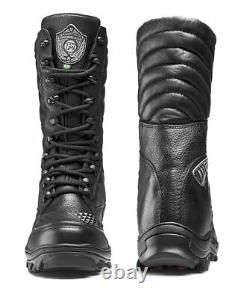 Mens Combat Boots Black Military Tactical Boots Lace Up Boots Leather Biker Hunt