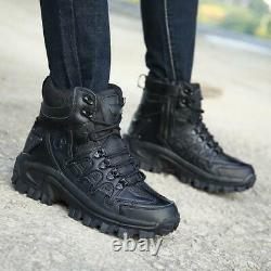 Mens High Top Military Tactical Boots Desert Army Hiking Combat Ankle Boots US