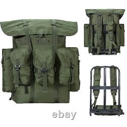 Military ALICE Pack Combat Tactical Army Backpack withFrame Olive Drab