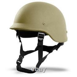 Military Army Bulletproof PASGT IIIA Tactical Combat Ballistic Helmet Tan