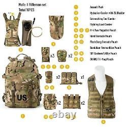 Military Molle II Rifleman Tactical Rucksack Assault Pack, FLC Combat