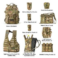 Military Molle II Tactical Rucksack Assault Pack FLC Combat Vest Multicam