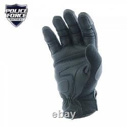 Military Police Swat Tactical Leather Combat Assault Hard Knuckle Shooting Glove