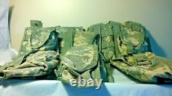 Military Tactical ACU Camo Molle II FIGHTING LOAD CARRIER VEST 9 POUCHES