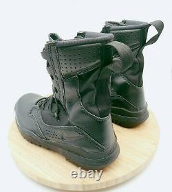 NIKE SFB FIELD 8 LEATHER TACTICAL COMBAT BOOTS AO7507-001 Mens Sz 10.5