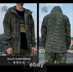 Night Desert Military Training Tactical Long Sleeve Jacket Combat Hoodie Coat