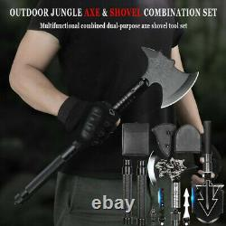 Outdoor Camping Tactical Axe Set Folding Portable Military Shovel Survival Kit