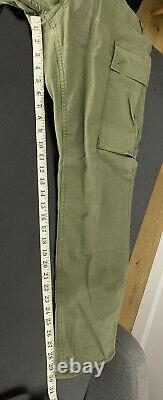 Polo Ralph Lauren 33x30 Military Green Cargo Tactical Pants RRL Slim Combat VTG