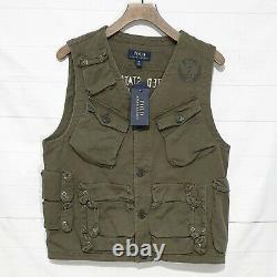 Polo Ralph Lauren military tactical utility field combat vest gilet jacket M