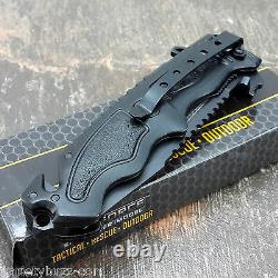 TAC FORCE BLACK SPRING ASSISTED OPENING BLADE Tactical Bowie Combat Pocket Knife