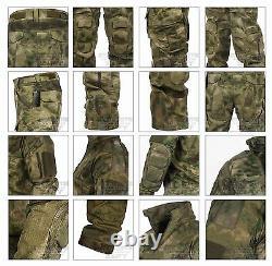 Tactical Army Combat Uniform Military ATACS ACU Camo Shirt & Pants For Men
