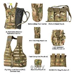 Tactical Vest Military Fighting Load Carrier Vest and Army FLC Pouches Multicam