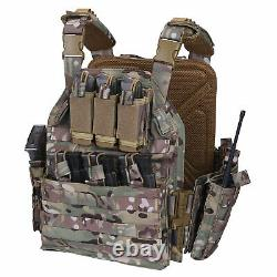 Tactical Vest Military Molle Airsoft Body Armor Combat Plate Carrier Multicam