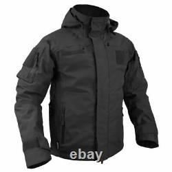 Texar Jacket Tactical Combat Army Hooded Conger Mens Black