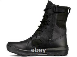 UNDER ARMOUR FNP TACTICAL SIDE ZIP Black Leather Military Cops Army Boots 13 Men