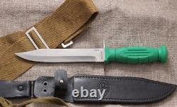 USSR RUSSIAN WW2 Tactical MILITARY SCOUT KNIFE HP-43 CHERRY, GREEN