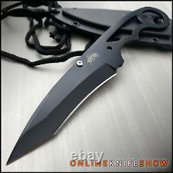 7 Black Tactique Militaire Complet Tang Fixe Blade Col Boot Couteau Fourreau Nouveau