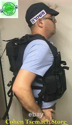 Black Hagor Officier Swat Militaire Tactical Vest Cordura Combat Harness Tsahal