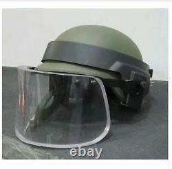 Bulletproof Visière Bouclier Visage Tactique De Combat Armée Swat Militaire Riot Sas