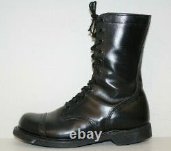 Carolina Mens 10 Jump Boots Sz 10 Cap Toe Tactical Military Black Leather États-unis