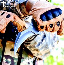 Couteau De Griffe Karambit Survie Complète Tang Combat Militaire Chasse Camp Tactique G10