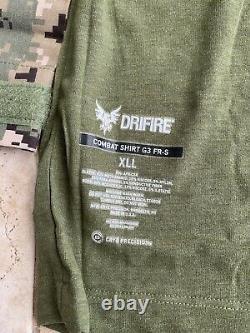 Crye Precision Drifire Aor2 Chemise De Combat X-large/long Aor Militaire Tactique1