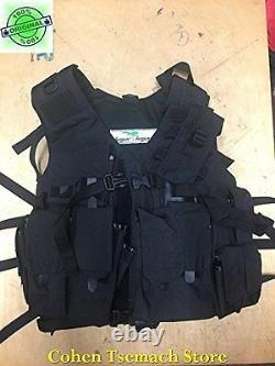Hagor Officier Swat Militaire Tactical Vest Hunting Combat Harness Idf Black
