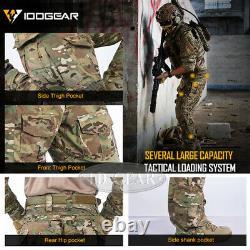 Idogear G3 Pantalons De Combat Pantalons Tactiques Edr Militaire Airsoft Multicam Noir
