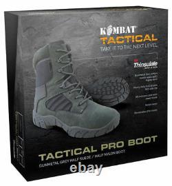 Mens Army Combat Military Tactical Pro Patrol Boot 50/50 Hiking Gun Metal Grey