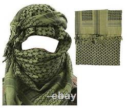 Mens Army Military Desert Tactical Neck Head Wrap Combat Sun Hat Foulard Shemagh