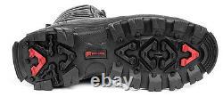 Mens Combat Boots Genuine Leather Black Hunt Tactique Moto Military Biker
