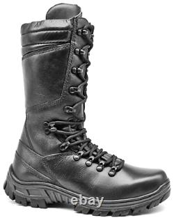 Mens Hunting Boots Moto Bottes De Combat En Cuir Noir Bottes Tactiques Chasse