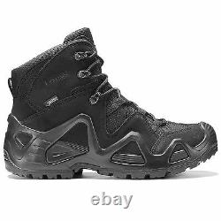 Mens Lowa Zephyr MID Gtx Gore-tex Waterproof Military Tactical Army Boots Noir